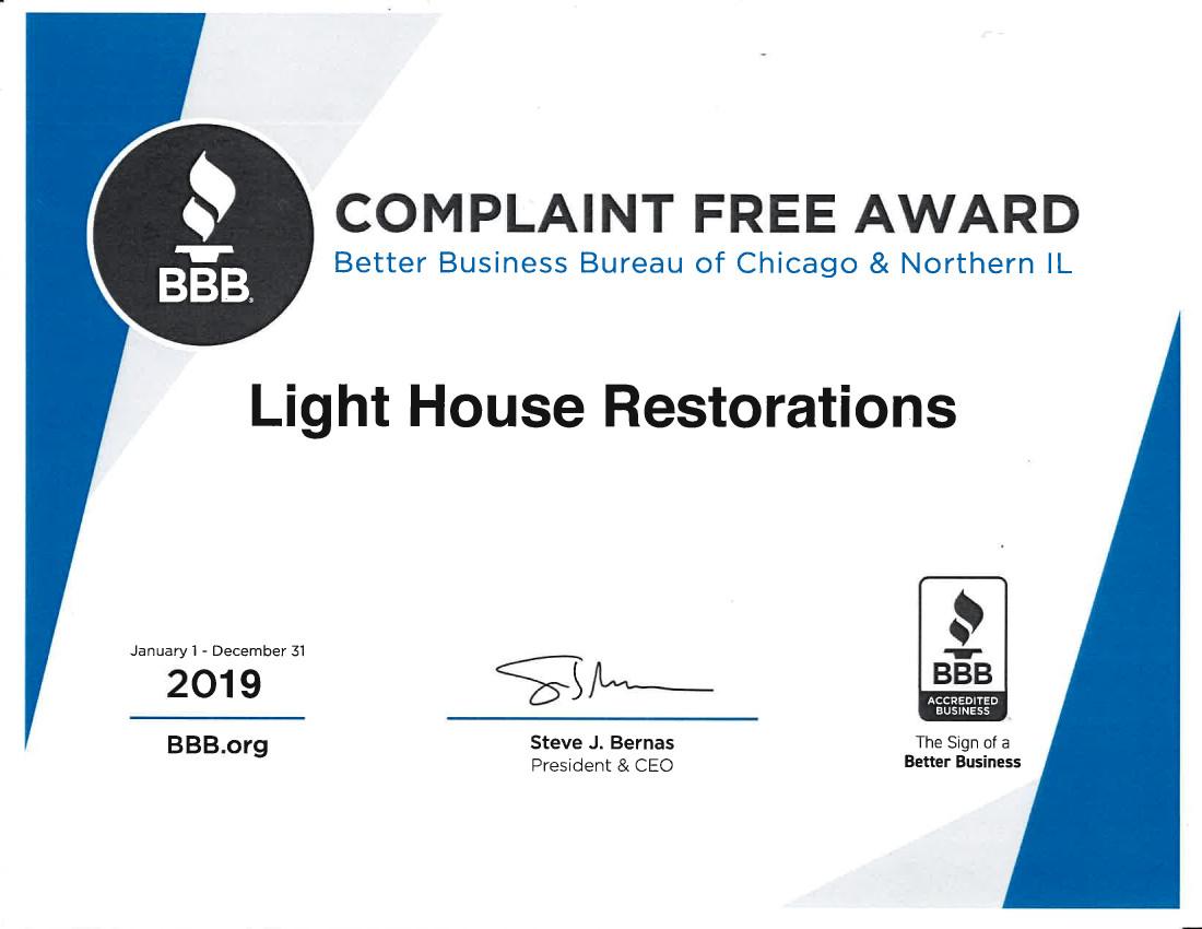 Complaint Free Award 2020